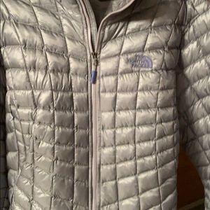 North face light gray jacket